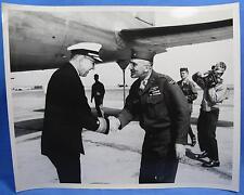 WWII US Navy USN Photo Admiral Denfeld USMC General Meet Nationalist China WW2
