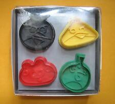 3D Angry Bird Hand Press baking biscuit cookie cutter mold set with stamp 730A