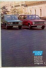 1973 Fiat 124 Saloon & Estate Station Wagon Special T Brochure England ws2669-GV