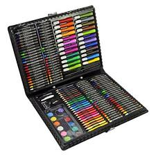 168pc Art Set Childrens Kids Colouring Drawing Painting Arts & Crafts Case