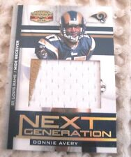 Donnie Avery 2008 Donruss Gridiron Gear Rookie 2-Color Jersey/Patch #25/25 Card