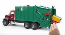 HUGE MACK GRANITE REAR LOAD GARBAGE TRUCK. 2 FEET LONG w/ CARTS NEW IN BOX