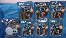 Star Trek The Next Generation MOC MIP Action Figure Lot Enterprise Galoob 1988