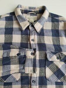 Ralph Lauren Denim & Supply Shirt Blue Check Textured Cotton *L/XL* TR78