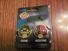 POP! Funko PINS~DC Comics: ARROW & DEATHSTROKE~2 Pack~New in Package