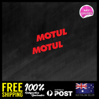 2x Motul Engine Transmission Oil 90x18mm Small Vinyl Sticker Decal Window Car