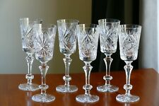FOR GIFT pattern TALL High quality CRYSTAL wine glasses, Set of 6, Russia