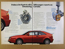 1989 VW Volkswagen CORRADO 'Introducing' red car photo vintage print Ad