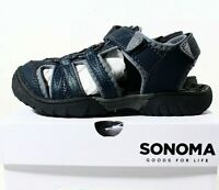 Boy/'s Toddler SONOMA LIL TIMBER Navy Blue Athletic//Sport Hiking Sandals NEW