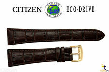 Citizen H570-S074941 Eco-Drive Original 23mm Brown Leather Watch Band S073308