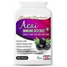 Acai Immuno Defence , Grape Seed Extract and Pomegranate Vegan 100Cps