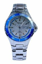 Stainless Steel Band Analogue Silver Case Wristwatches