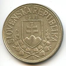 Slovaquie République 20 Korun argent 1941 KM 7.1