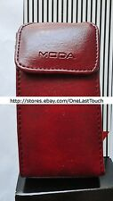 MODA Case OSFM SMALL PHONES Burgundy+Black LANYARD CARRIER Faux Leather NEW!