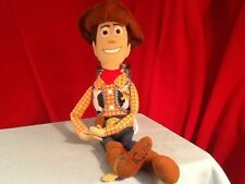 "Disney Toy Story 21"" Plush Sheriff WOODY w/ Velcro Hands, Andy on bottom of foot"