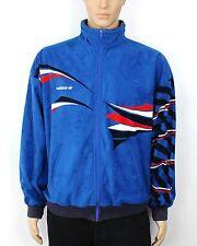 VINTAGE Adidas Originals VENTEX Olimpiadi in Velluto Blu Tuta Giacca Taglia L (SW266)