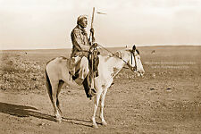 Giclee Reprint Vintage Native American Photo INDIAN WARRIOR w/ Winchester Rifle
