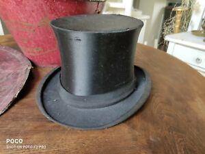 Chapeau Claque Klapp Zylinder Unzerbrechlich mit Hutschachtel antik Hut