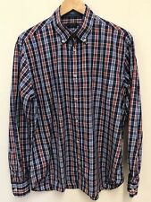 Paul And Shark Mens Long Sleeve Blue Red  Check Shirt Collared Size 42 XL