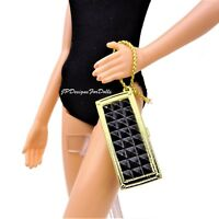 Barbie The Look City Chic Gold and Black Purse New