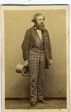 PHOTO CDV Arsène Houssaye par Pierre Petit circa 1860 vintage albumen