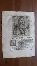 1664 Calvi Scrittori Bergamaschi: Giovanni Co. Albano, Accademia Eccitati