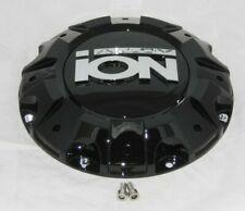 NEW ION ALLOY WHEEL RIM GLOSS BLACK CENTER CAP C1019402B or C10187B WITH SCREWS