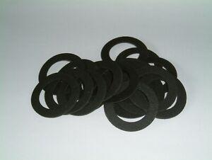 Cloth Rubber Washers 38mm O/D X 25mm I/D X 1.5mm Thk, various quantities