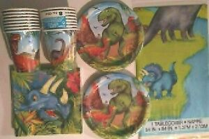 DINOSAUR PARTY Birthday Party Supply Set Decoration Kit for 16