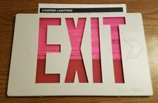 NEW Cooper Lighting Thermoplastic Exit Emergency All Pro replacement lens cover.