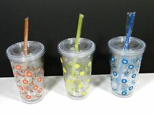 Tumbler Cup Double Wall Insulated Lid With Straw M&M's  Candy