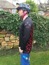 Red Camo 'Slim Fit' Long Sleeve Mountain Bike Jersey Size Small