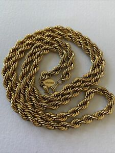 Vintage Oroton Gold Plated Necklace Chain Twisted Rope In Immaculate Condition