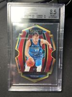 2018-19 Luka Doncic Select Prizm Maroon Die Cut Rookie #/175. BGS Graded 8.5