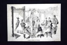 Osteria italiana ad Amburgo Incisione del 1882