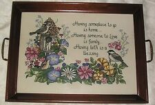 Completed Framed Hand Made Special Blessing Crosstitch Sudberry House Tray Gift