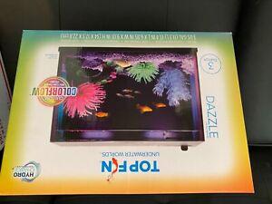 Top Fin Dazzle Aquarium Starter Kit - 3 Gallon, 7 Color Changing LEDs
