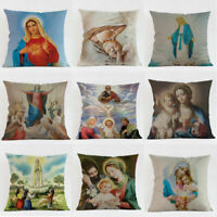 "18""Waist Cover Square Car Linen Virgin Case Mary Cushion Throw Bed Pillow Cotton"