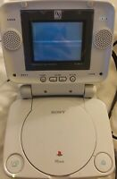 "AS IS Sony PS One PS1 White Console SCPH-101, InterAct LCD 5"" Screen, Controller"