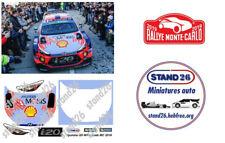 Decals Hyundai i20 WRC Loeb Monte Carlo 2019 correctif pour Altaya 1/43e