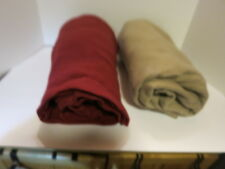 Snuggie Blanket Adult one maroon/one tan- Take Your Choice