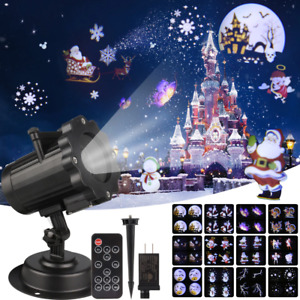 Christmas Laser Light Projector Animation Effect IP65 Indoor/Outdoor 12 Patterns