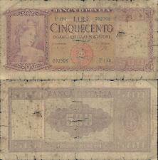 500 LIRE ITALIA ORNATA DI SPIGHE DEC.23/03/1961