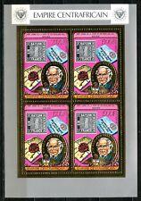 Centre Afrique Rowland HILL 1978 Stamp Gold Foil Or MICHEL 598 A 60e