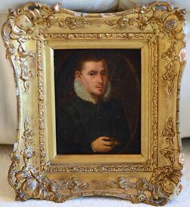 Antique 19th Century Portrait Of A Gentleman Oil Painting