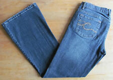 NEW - CALVIN KLEIN - LADIES UK 10 - BLUE ULTRA LOW FLARE JEANS - US 29 TROUSERS