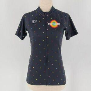 Pearl Izumi Custom Poptivism Polka Dot Cycling Jersey Shirt Womens XS