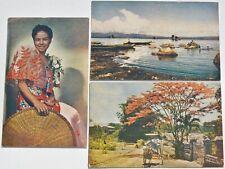 Postcard Philippine Islands Kodak Kodachrome Lot Filipina Girl Charles Miller