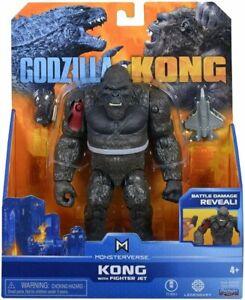 "KONG with FIGHTER JET MonsterVerse FIGURE Hollow Earth Godzilla vs Kong 15cm 6"""