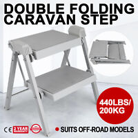 Double Folding Caravan Step - Camper Trailer, Motorhome, Compact RV